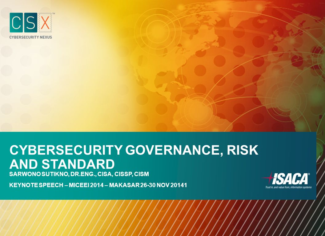 Cybersecurity Governance, Risk and Standard