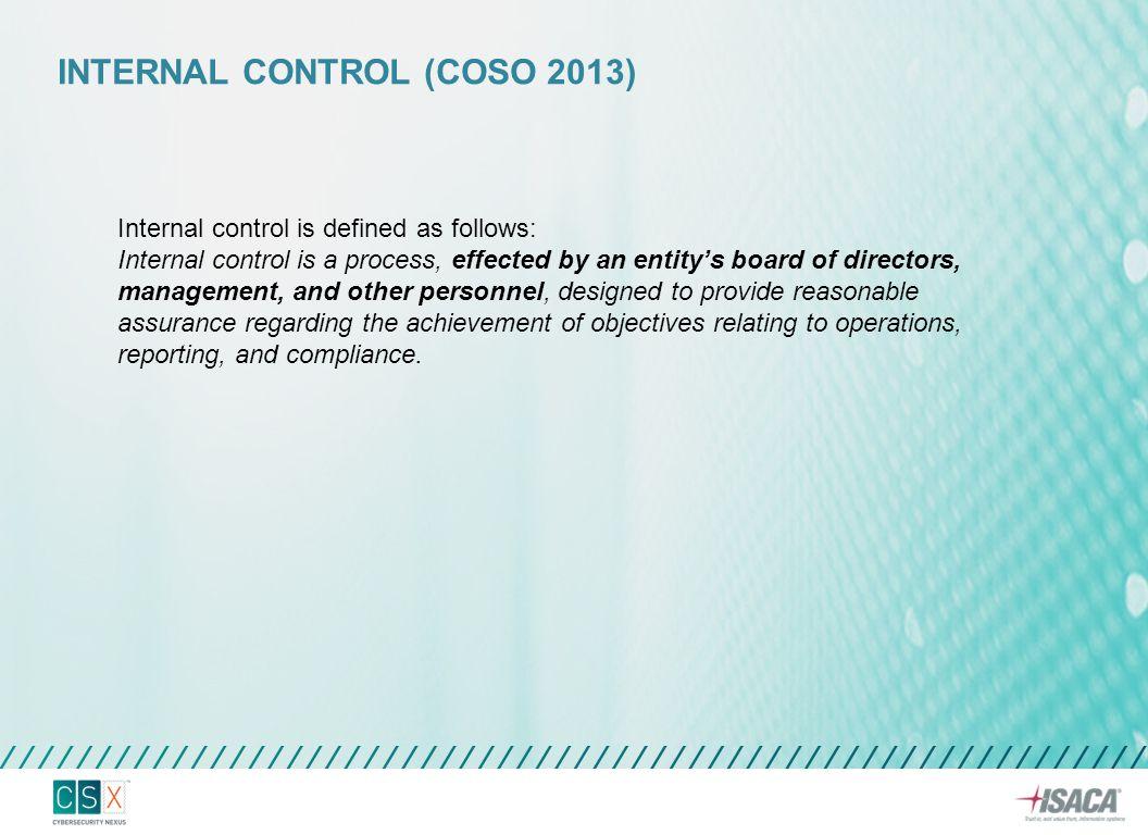 Internal control (COSO 2013)