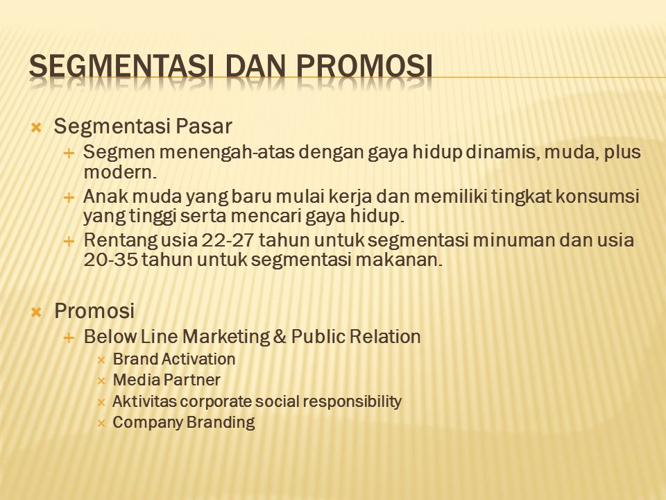Segmentasi dan Promosi