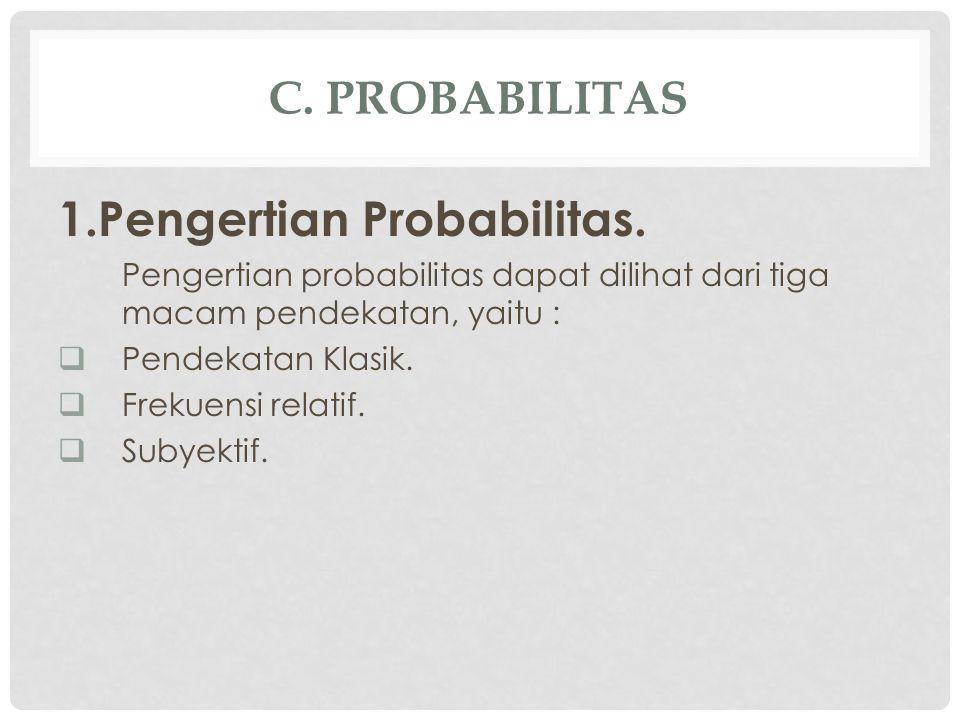 1.Pengertian Probabilitas.