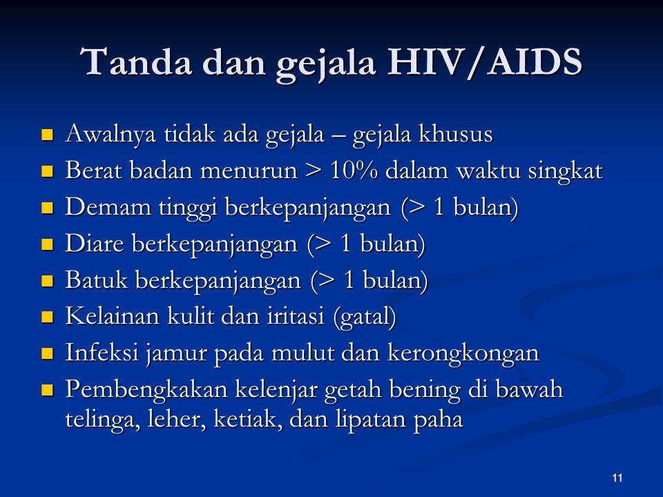 Tanda dan gejala HIV/AIDS
