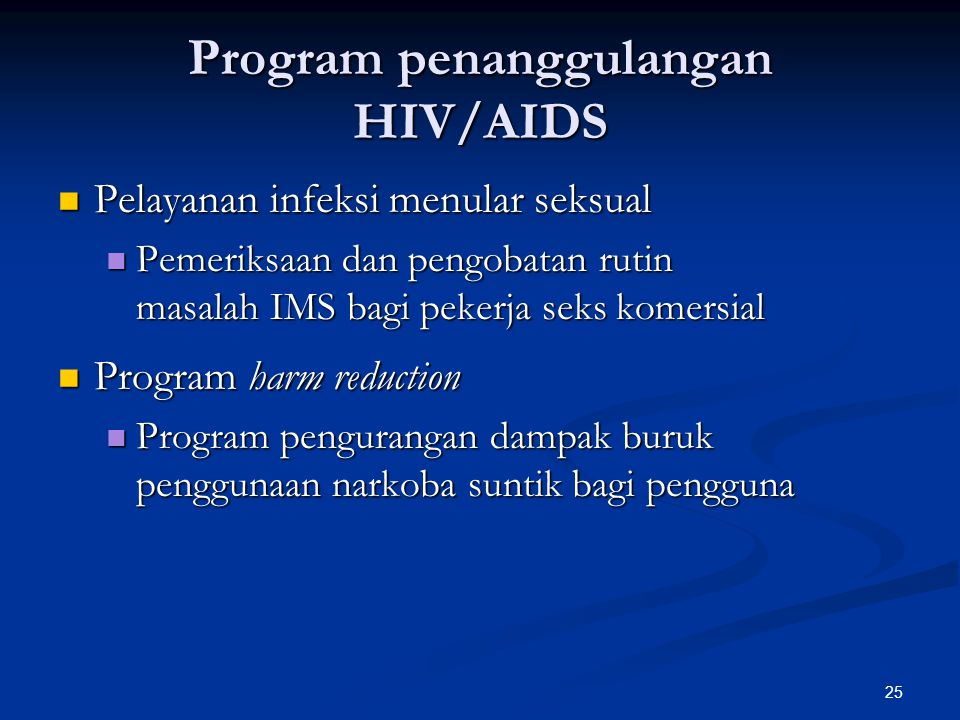 Program penanggulangan HIV/AIDS