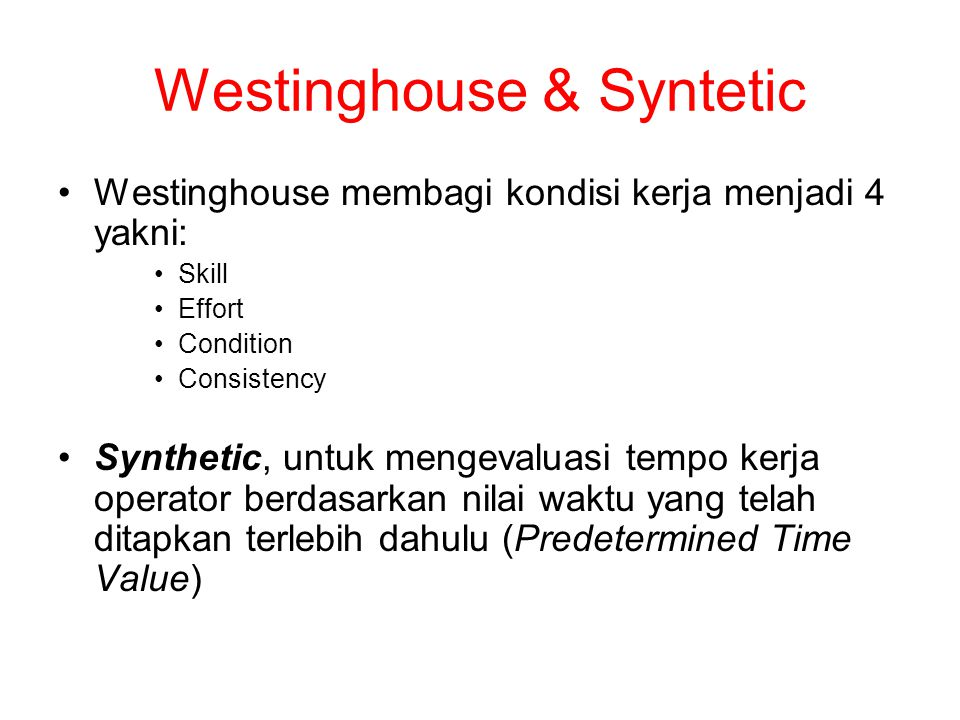 Westinghouse & Syntetic