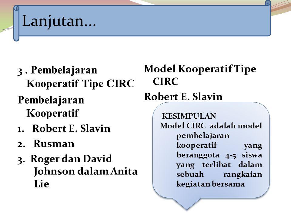 Lanjutan... Pembelajaran Kooperatif