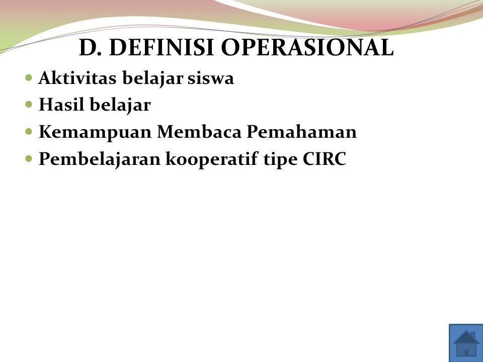 D. DEFINISI OPERASIONAL