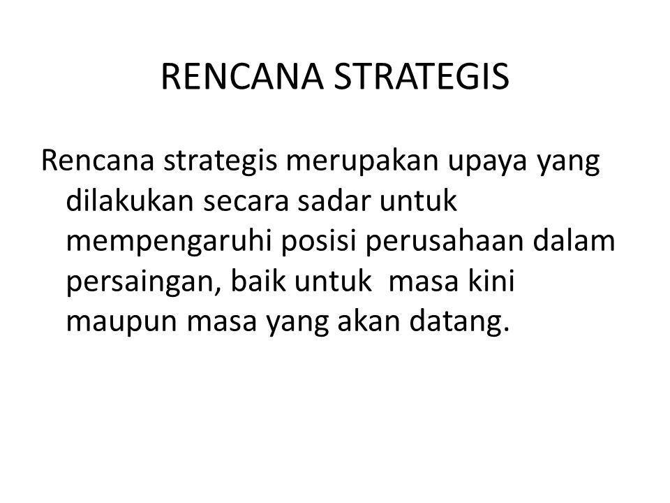 RENCANA STRATEGIS
