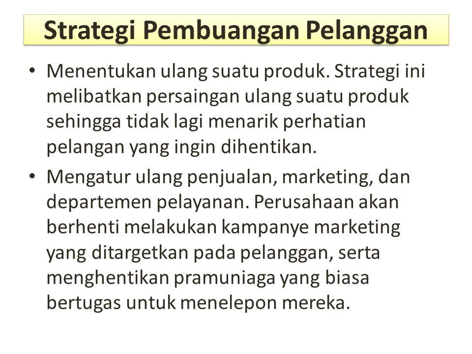 Strategi Pembuangan Pelanggan