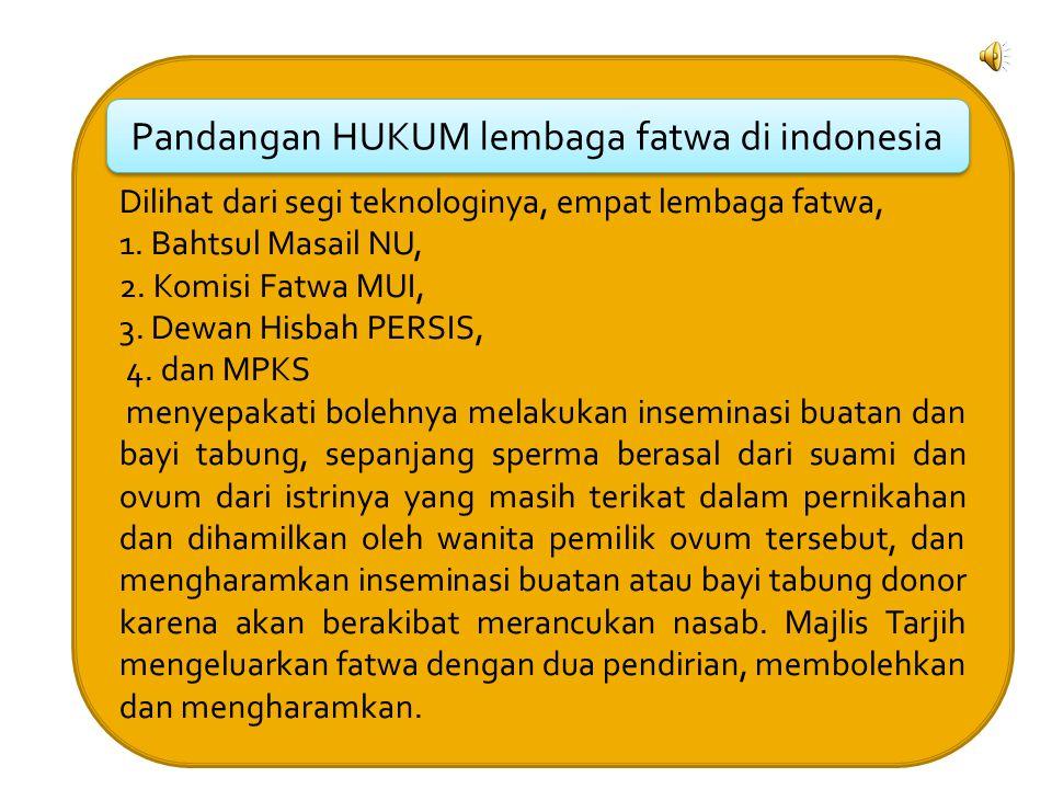 Pandangan HUKUM lembaga fatwa di indonesia
