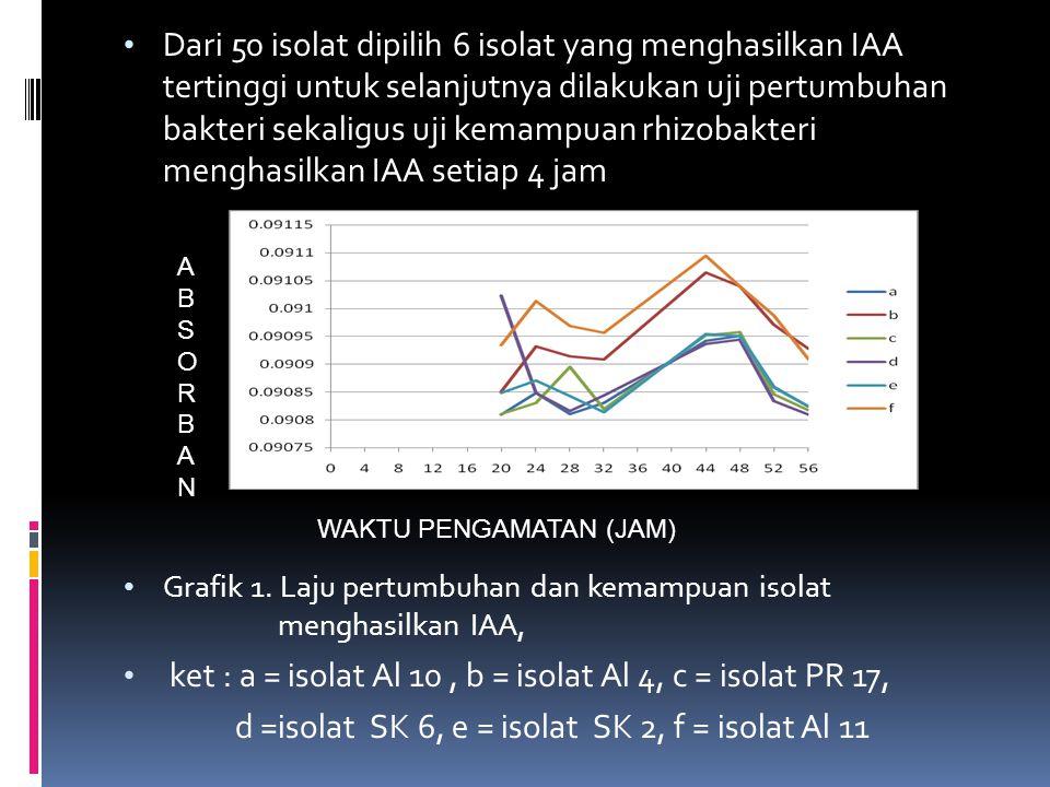 ket : a = isolat Al 10 , b = isolat Al 4, c = isolat PR 17,