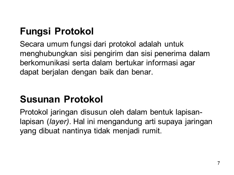 Fungsi Protokol Susunan Protokol