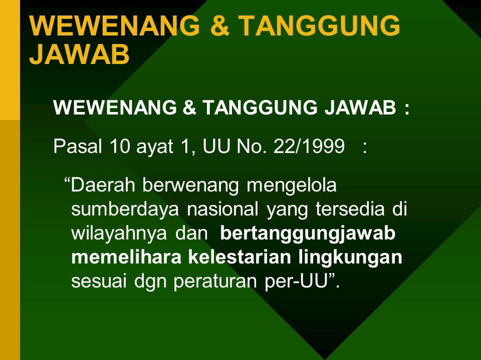 WEWENANG & TANGGUNG JAWAB