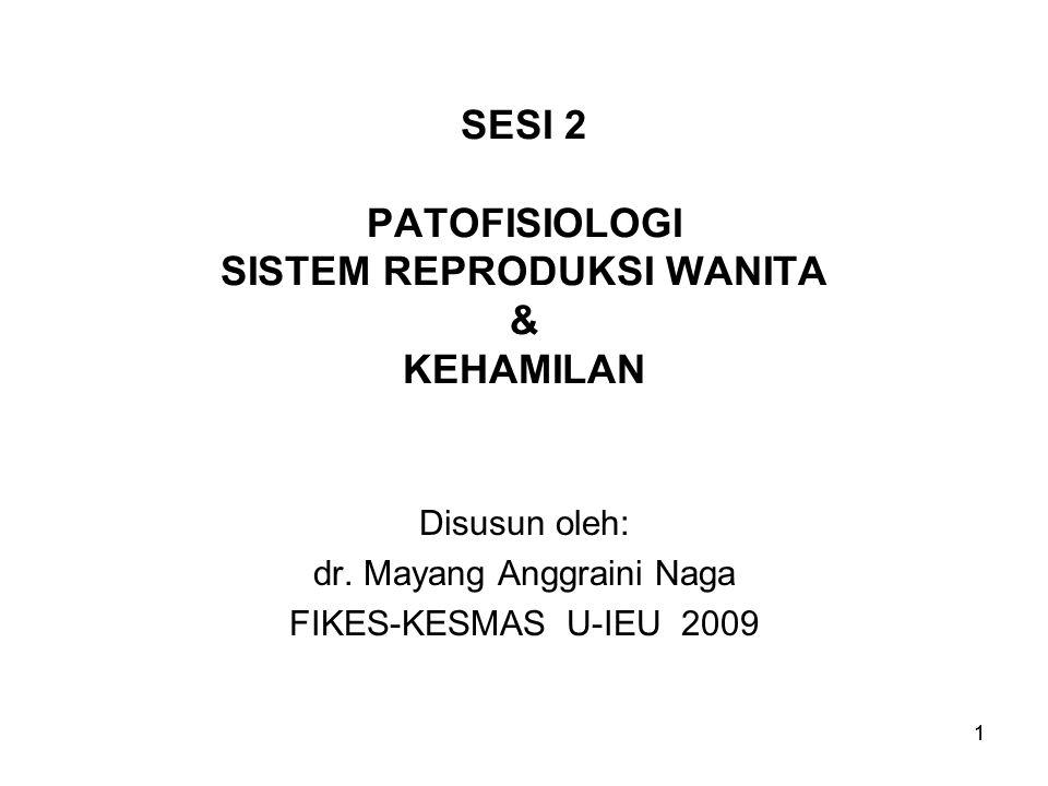 SESI 2 PATOFISIOLOGI SISTEM REPRODUKSI WANITA & KEHAMILAN