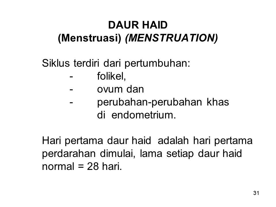 DAUR HAID (Menstruasi) (MENSTRUATION)