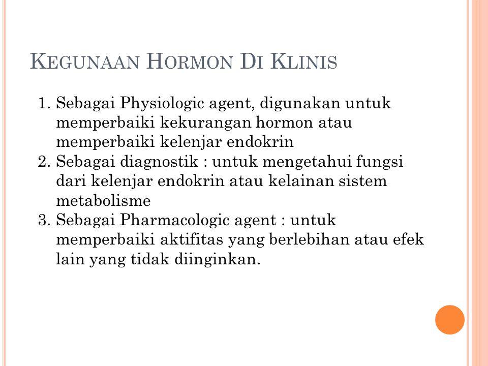 Kegunaan Hormon Di Klinis