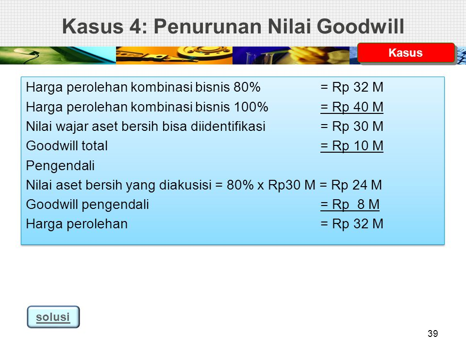 Kasus 4: Penurunan Nilai Goodwill