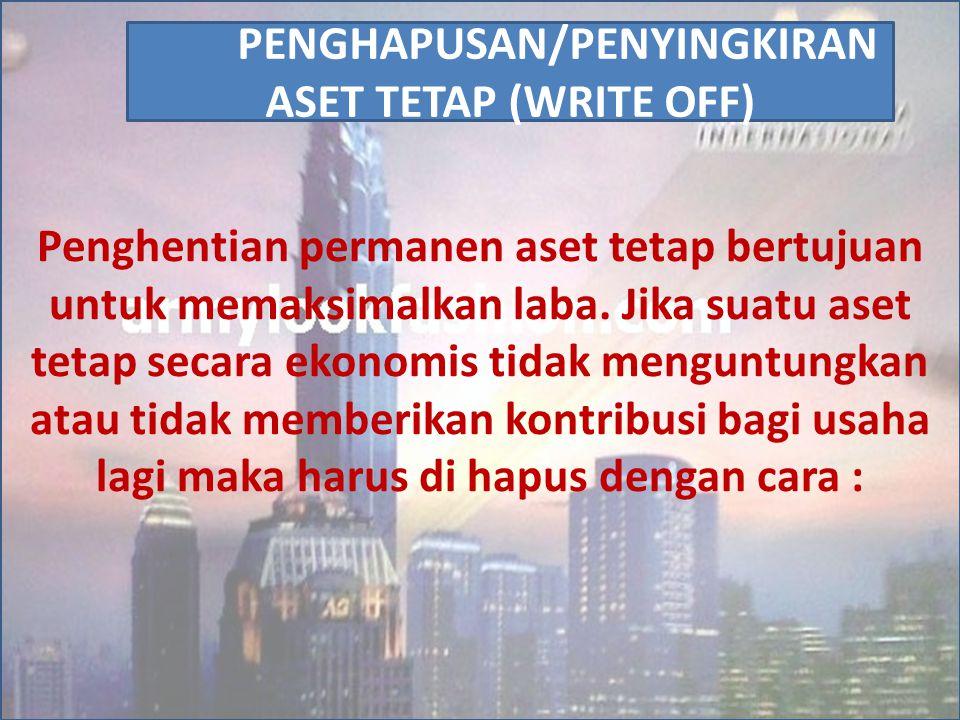 PENGHAPUSAN/PENYINGKIRAN ASET TETAP (WRITE OFF)