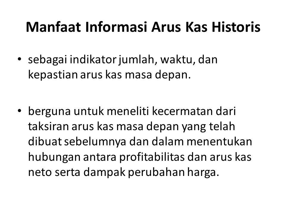 Manfaat Informasi Arus Kas Historis