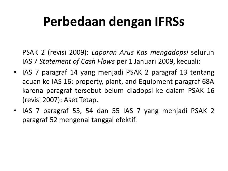 Perbedaan dengan IFRSs