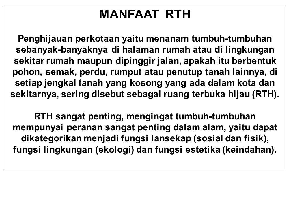 MANFAAT RTH