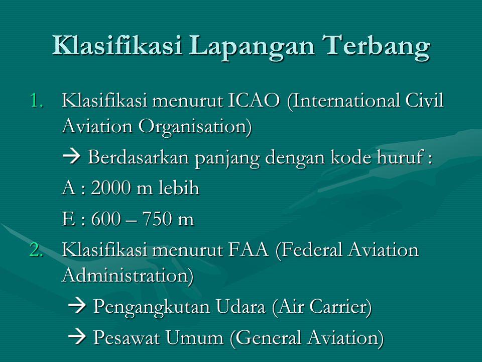 Klasifikasi Lapangan Terbang