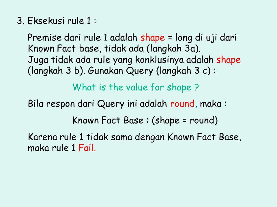 3. Eksekusi rule 1 :
