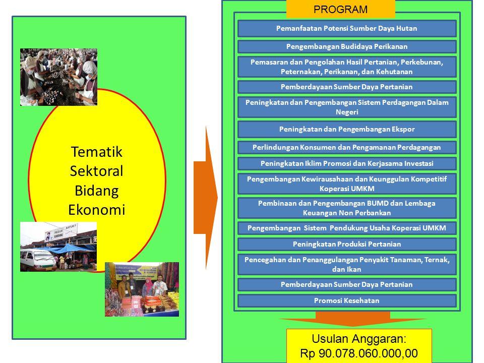 Tematik Sektoral Bidang Ekonomi