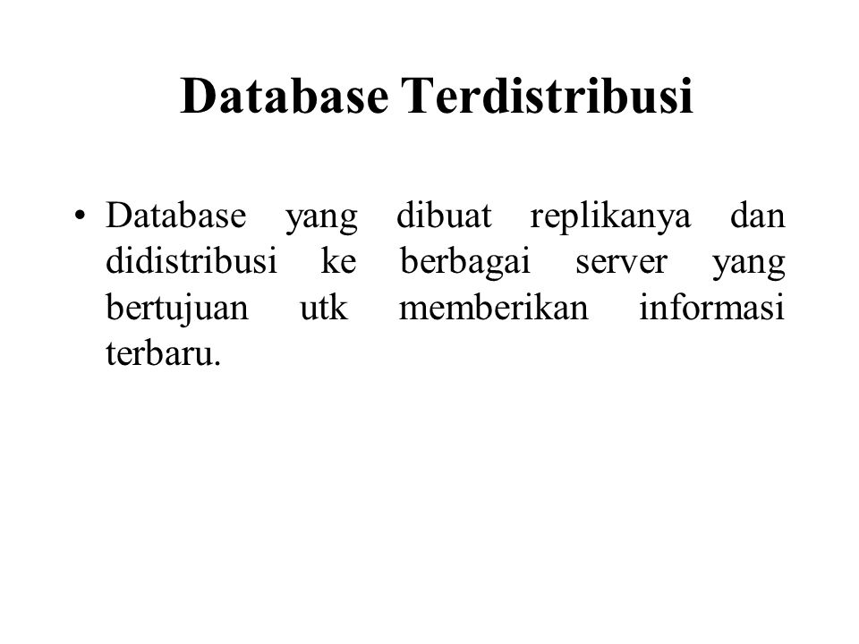Database Terdistribusi
