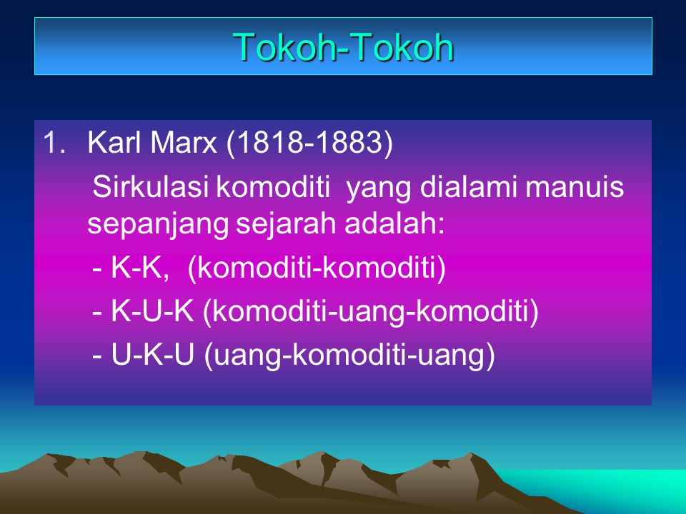 Tokoh-Tokoh Karl Marx (1818-1883)