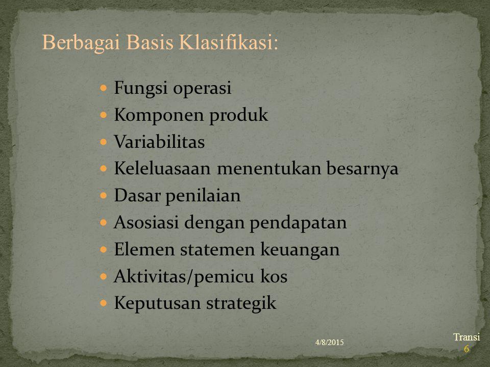 Berbagai Basis Klasifikasi: