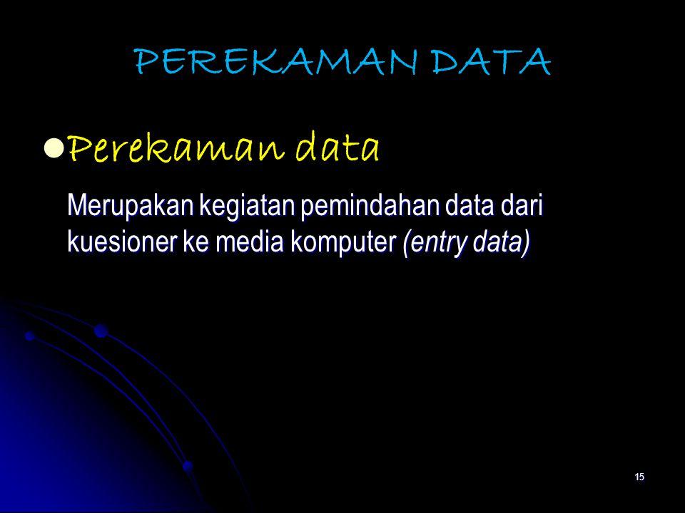 PEREKAMAN DATA Perekaman data
