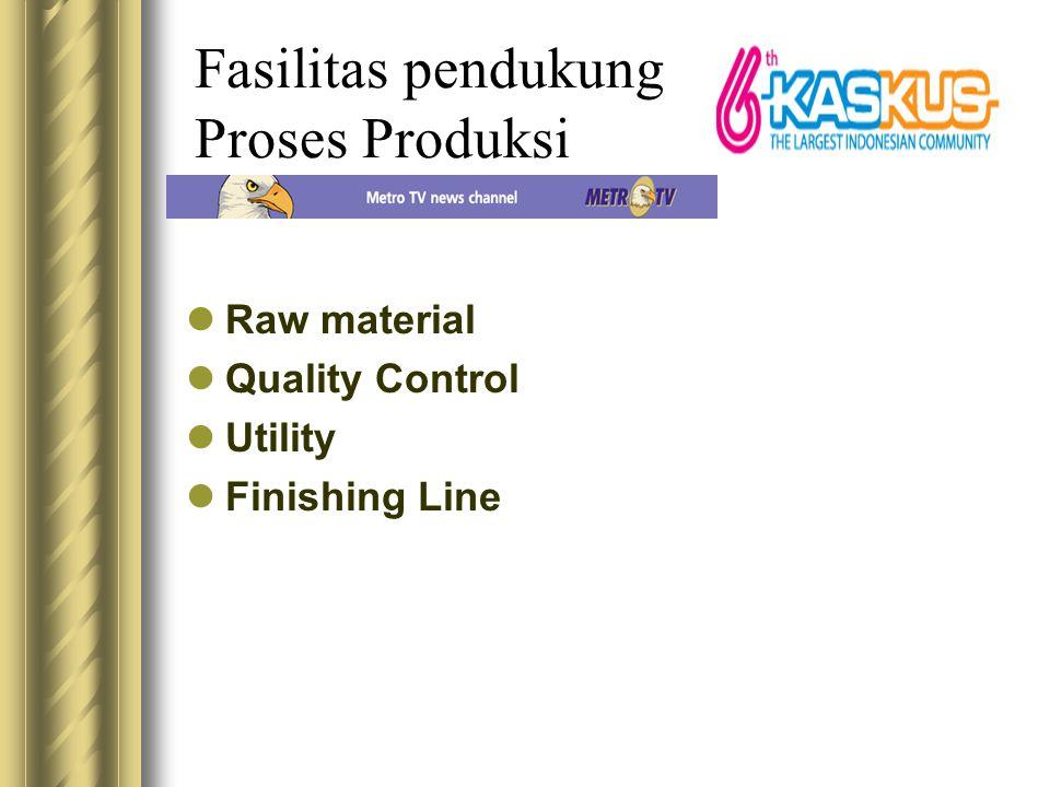Fasilitas pendukung Proses Produksi