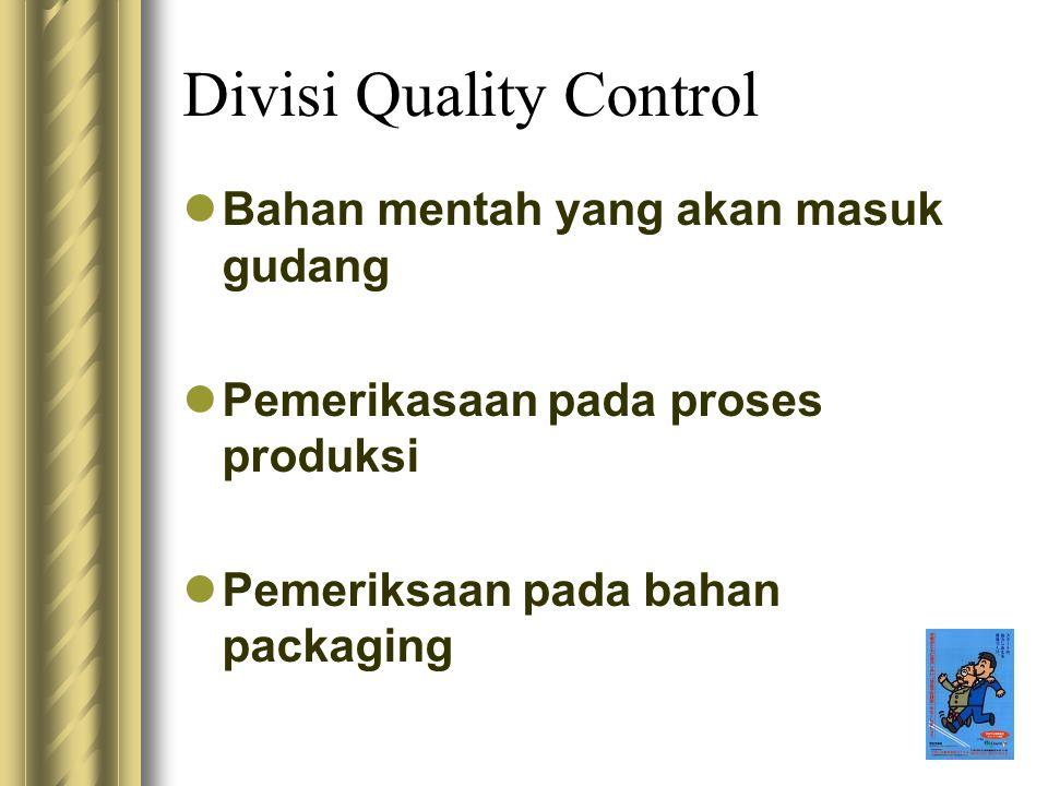 Divisi Quality Control