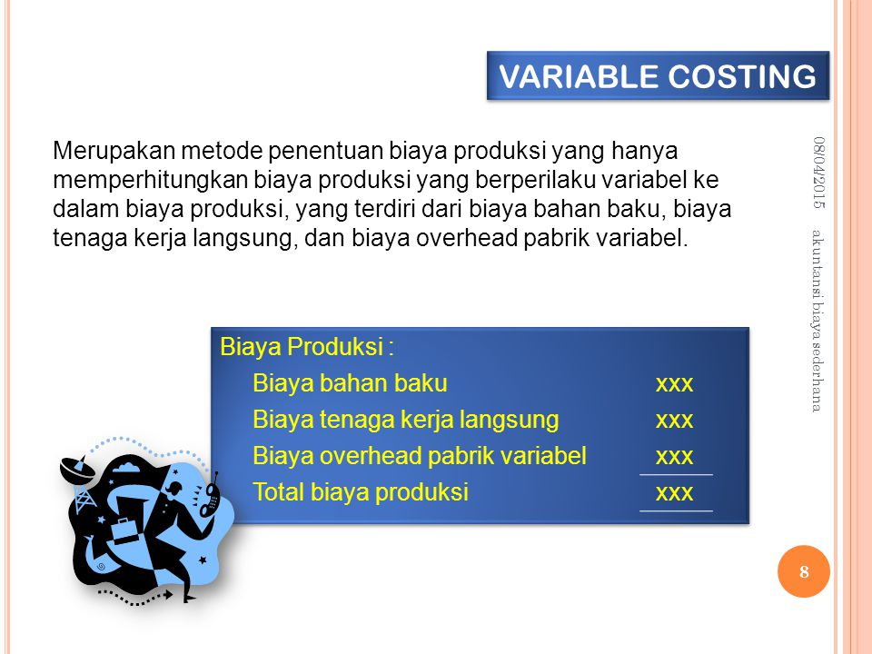 VARIABLE COSTING 10/04/2017. 10/04/2017.