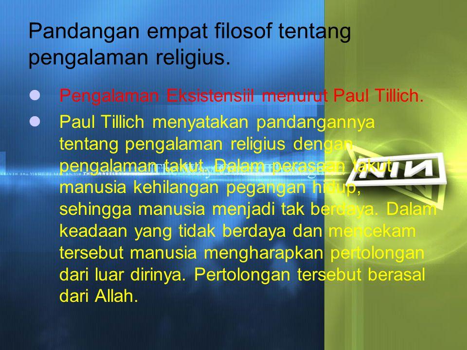 Pandangan empat filosof tentang pengalaman religius.