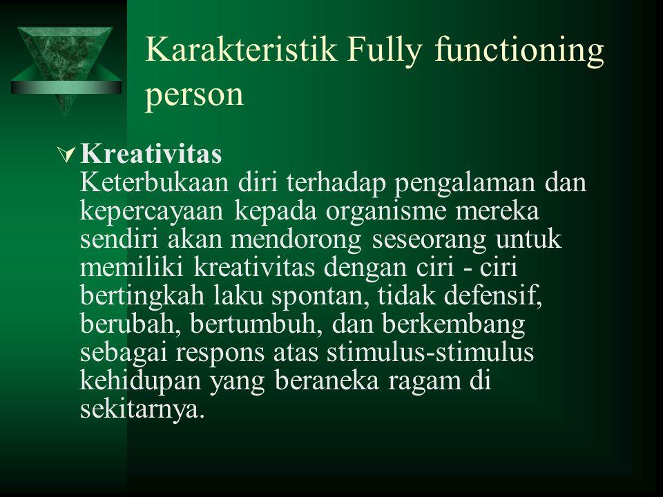 Karakteristik Fully functioning person
