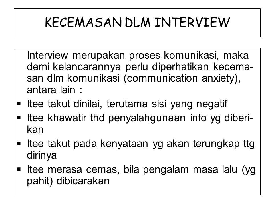 KECEMASAN DLM INTERVIEW
