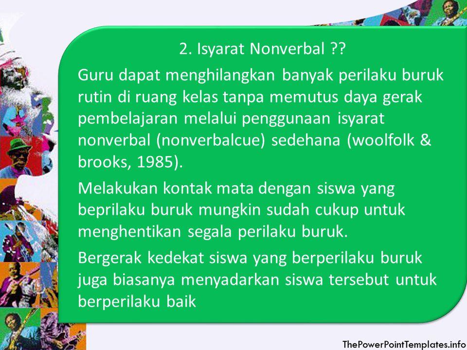2. Isyarat Nonverbal .