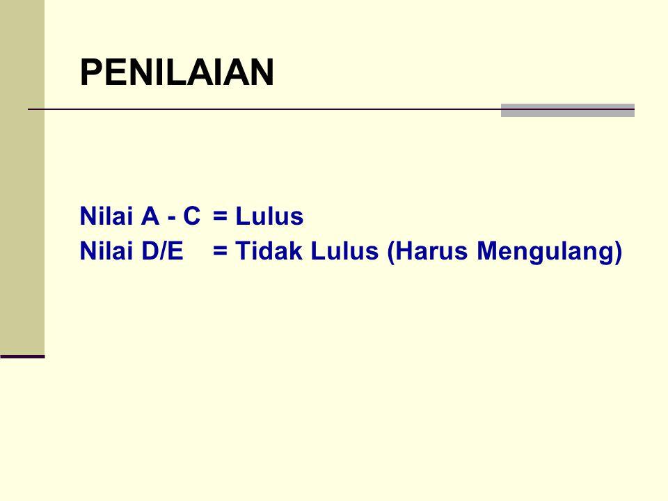 PENILAIAN Nilai A - C = Lulus