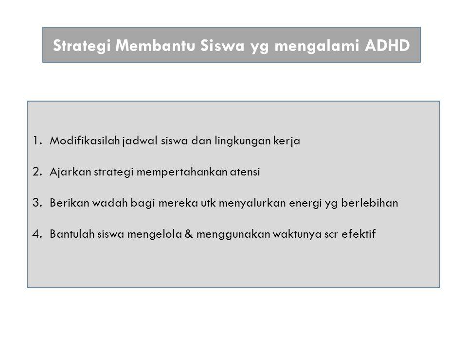 Strategi Membantu Siswa yg mengalami ADHD