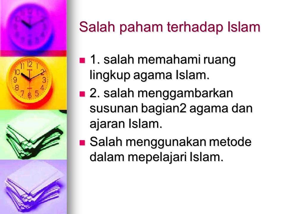 Salah paham terhadap Islam