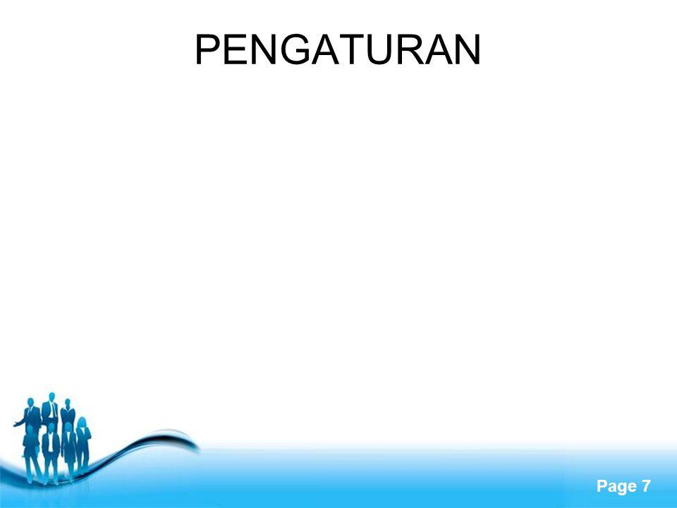 PENGATURAN
