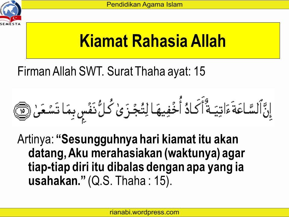 Kiamat Rahasia Allah