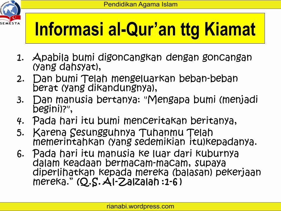 Informasi al-Qur'an ttg Kiamat