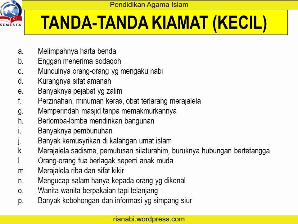 TANDA-TANDA KIAMAT (KECIL)