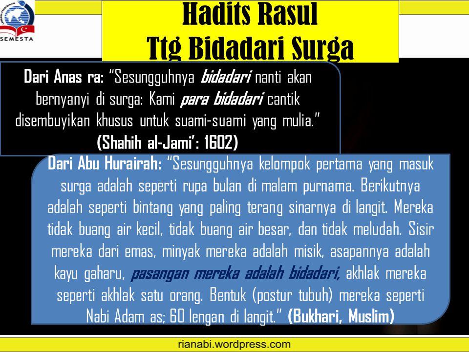 Hadits Rasul Ttg Bidadari Surga
