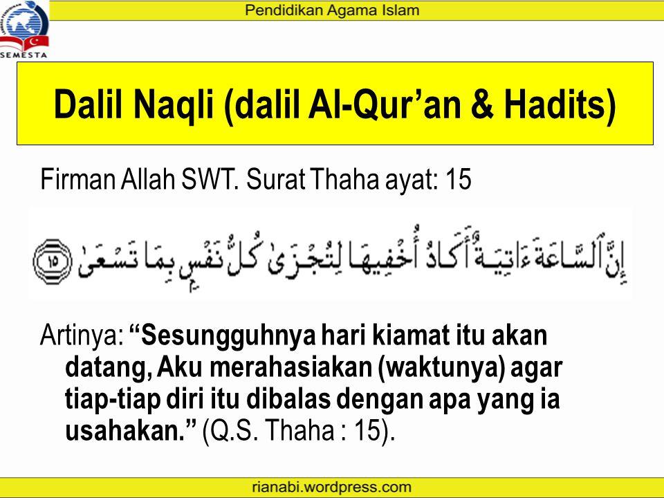 Dalil Naqli (dalil Al-Qur'an & Hadits)