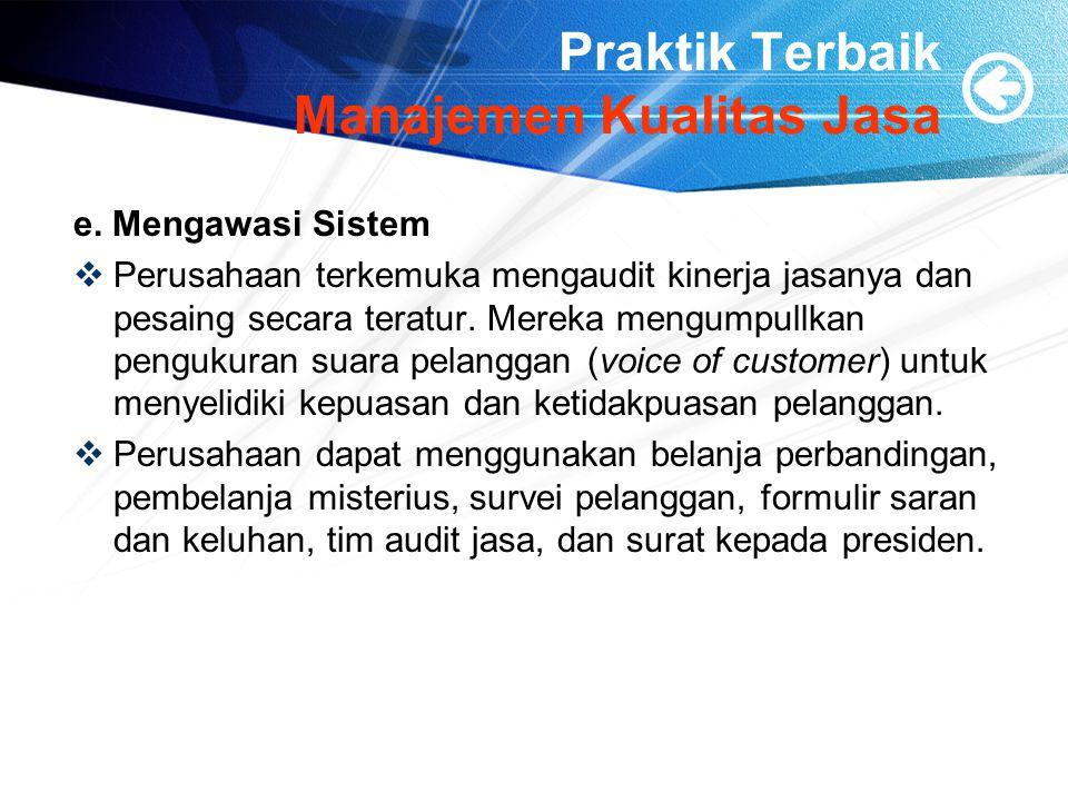 Praktik Terbaik Manajemen Kualitas Jasa