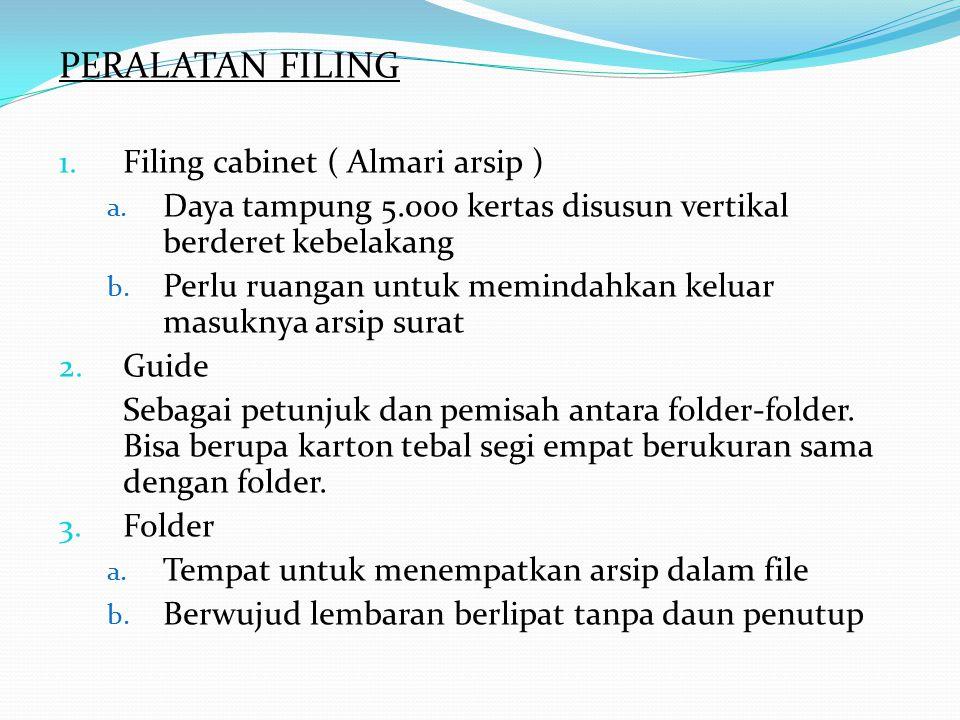 PERALATAN FILING Filing cabinet ( Almari arsip )