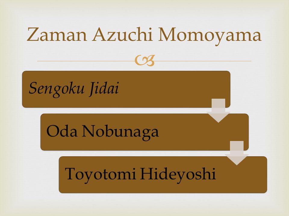 Zaman Azuchi Momoyama Sengoku Jidai Oda Nobunaga Toyotomi Hideyoshi