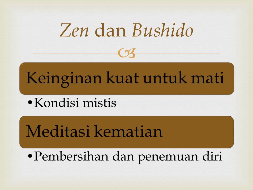Zen dan Bushido Keinginan kuat untuk mati Meditasi kematian